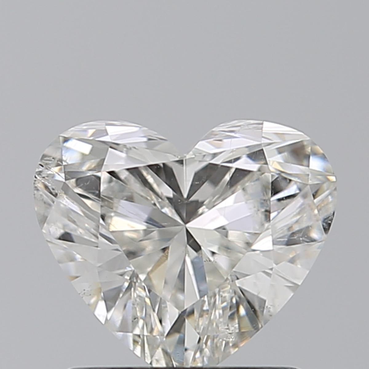 1.00 ct Heart Shape Diamond : H / SI2