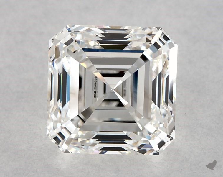 0.90 ct Asscher Cut Diamond : F / VS1