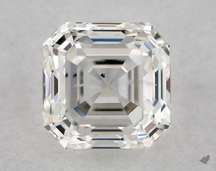 0.90 ct Asscher Cut Diamond : H / SI2