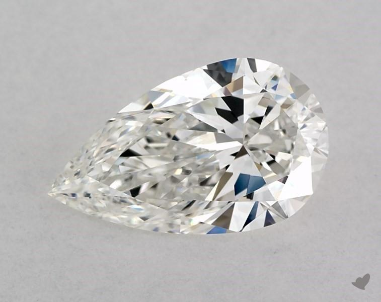 0.94 ct Pear Shape Diamond : F / SI1