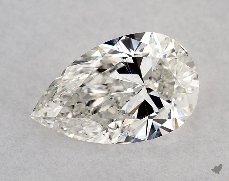 1.01 ct Pear Shape Diamond : H / SI1