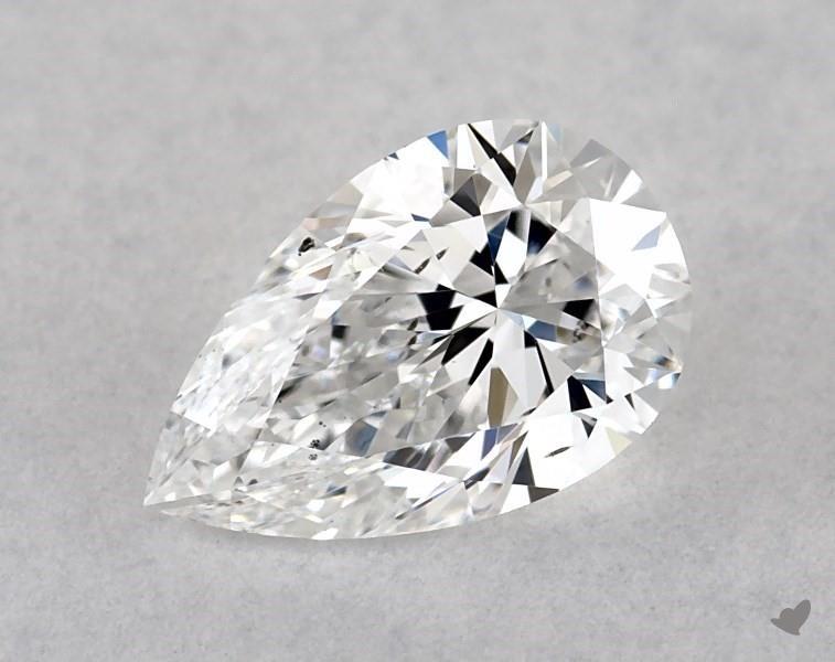 0.50 ct Pear Shape Diamond : E / SI1
