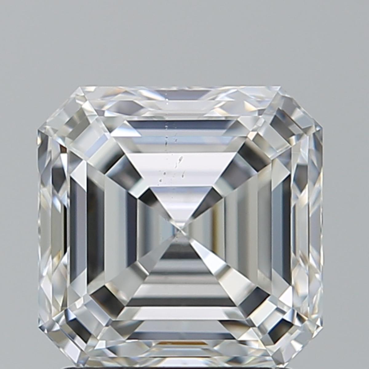 2.01 ct Asscher Cut Diamond : F / SI1